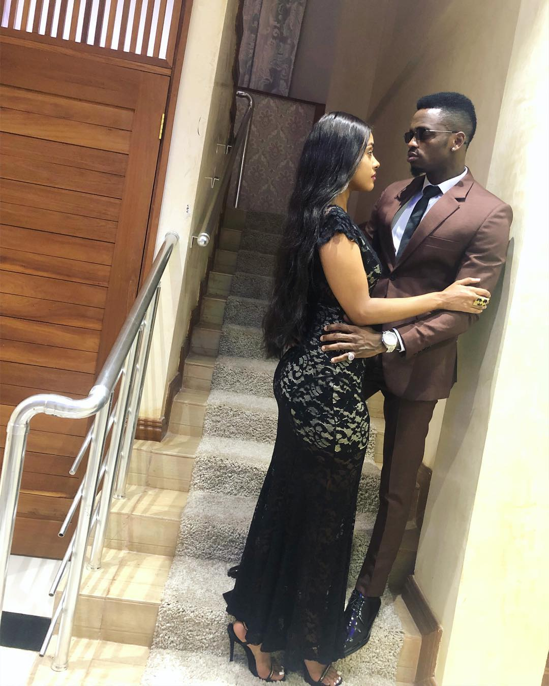 Tanasha Donna and Diamond in each others arms - Amependeza mashemeji! Esma Platnumz praises Diamond's bae Tanasha Donna