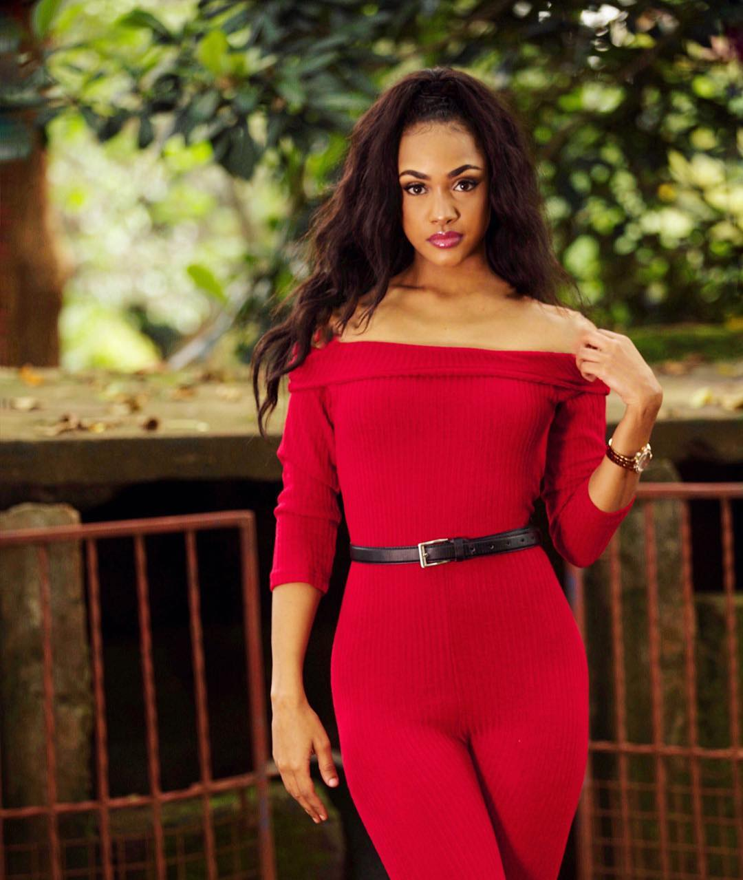 Tanasha-Donna-looking-good-in-red