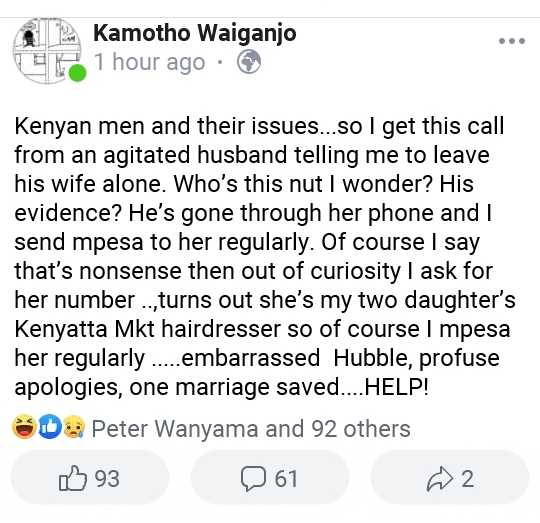WhatsApp Image 2019 04 26 at 11.06.15 AM e1556271362104 - Anne Waiguru's fiance confronted by city woman's hubby over Mpesa payments (screenshots)