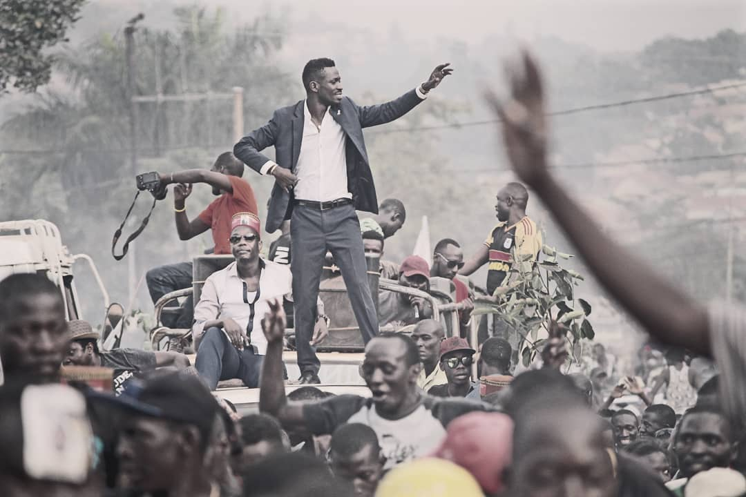 bobi wine adreesing his followers - Bobi Wine says, 'They want me dead as soon as possible!'