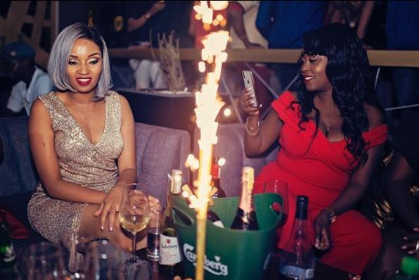 lillian muli with friends - Champagne showers! New mum Lillian Muli went out partying with her friends (PHOTOS)