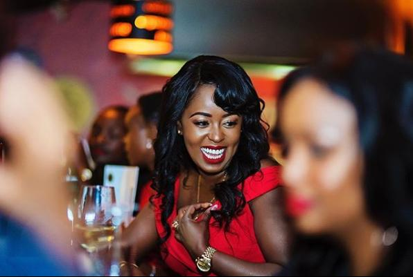 lillian muli with friends2 - Champagne showers! New mum Lillian Muli went out partying with her friends (PHOTOS)