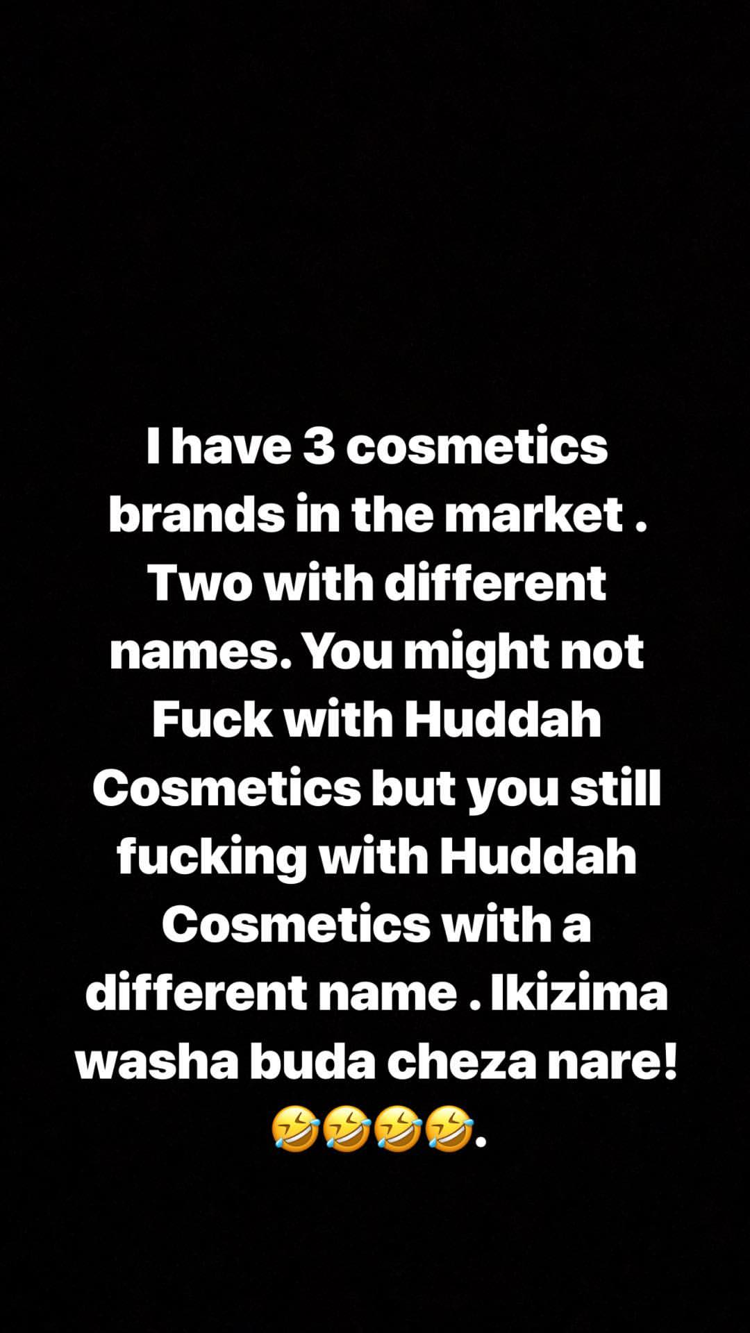 57490426 1065547983652225 6213294285332462786 n - Huddah Monroe responds to claims she sells poor quality lipsticks