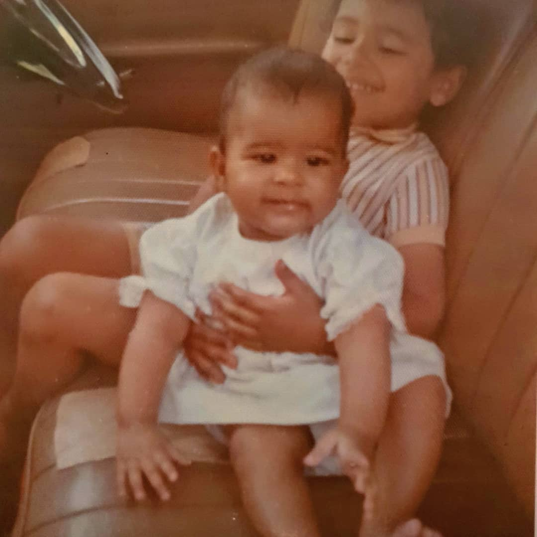 A TBT of Julie Gichuru and her brother - Julie Gichuru reveals photo of parents in mother's day TBT