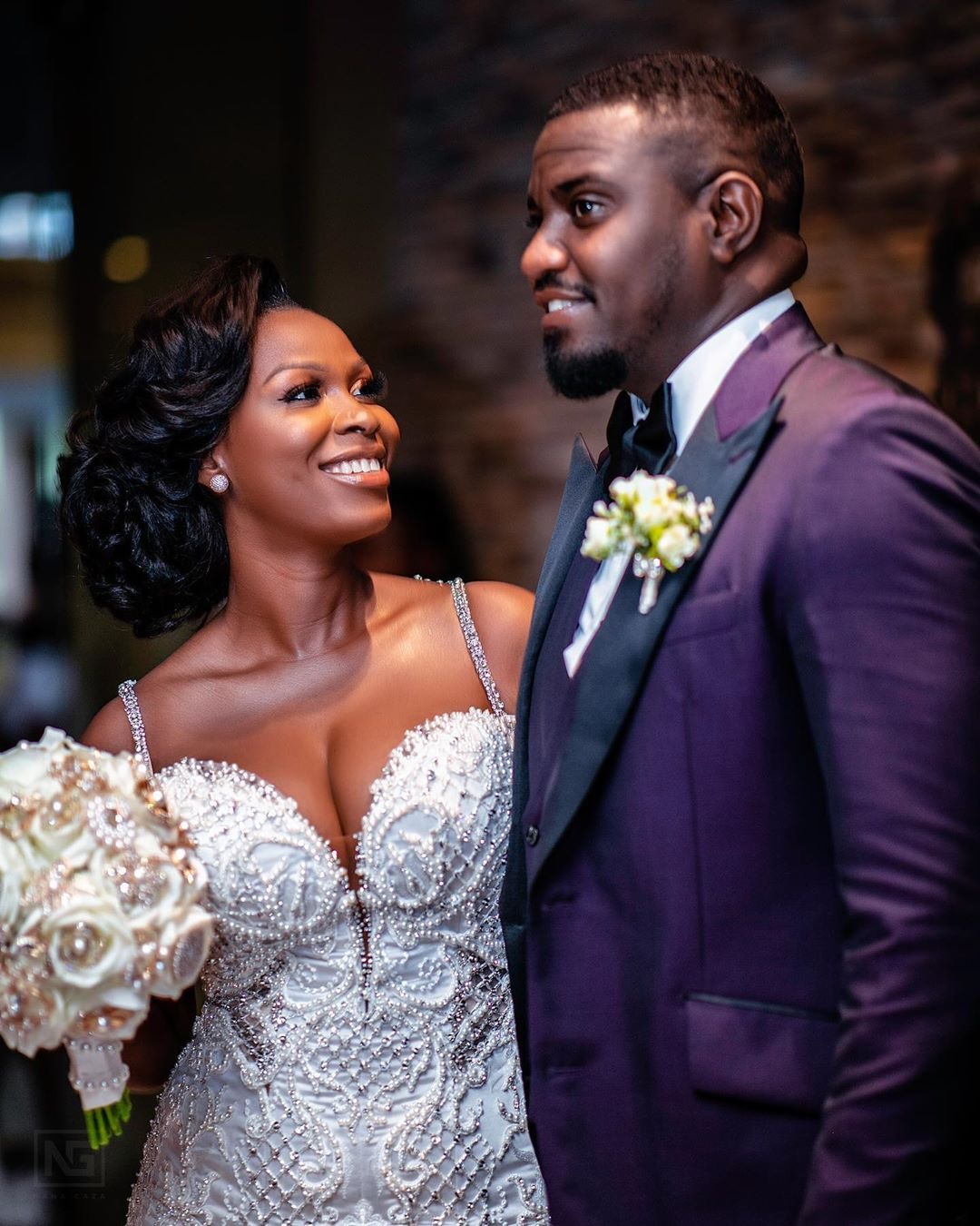 Dumello and wife - Popular actor's bride wears wedding dress worth Ksh 98,000