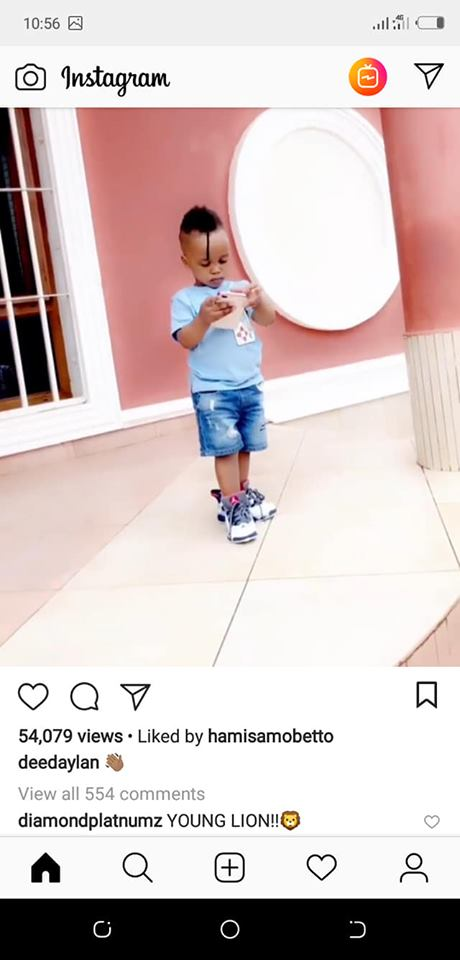 Dylan - Diamond snubs Zari's son, showers other two kids with love