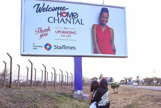 Eric Chantal Billboard - No more billboards! Chantal spends birthday without Eric Omondi