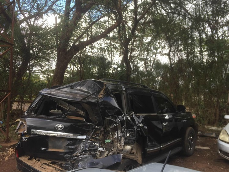 Francis Kuria road accident 2 - Molo MP Francis Kuria involved in sickening car accident (Photos)