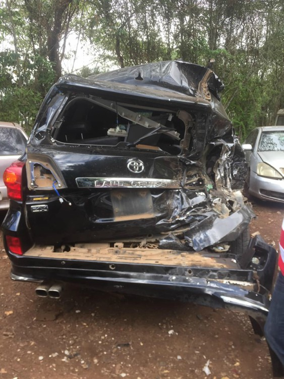 Francis Kuria road accident 4 - Molo MP Francis Kuria involved in sickening car accident (Photos)