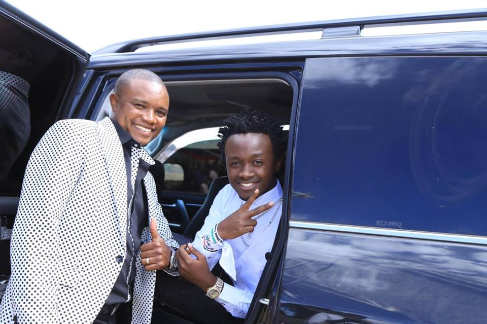Francis with Bahati - Molo MP Francis Kuria involved in sickening car accident (Photos)