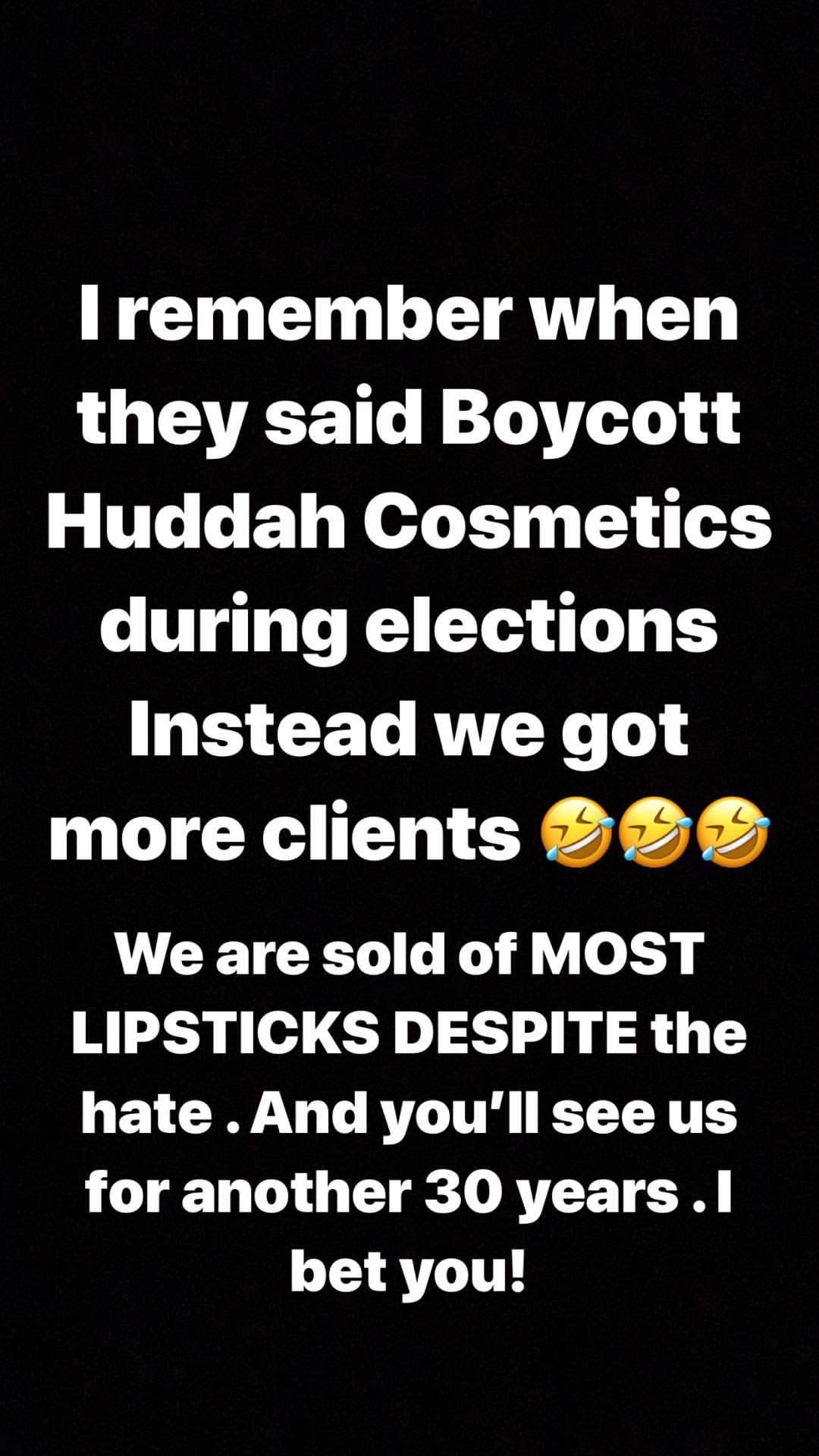 Huddah cosmetics - Huddah Monroe responds to claims she sells poor quality lipsticks
