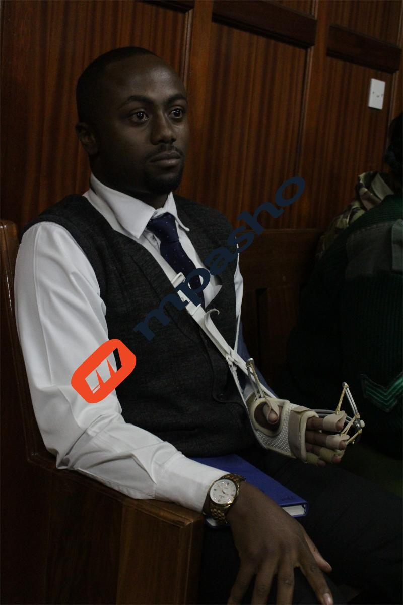 Jowie court broken arm - Bow tie, gold watch and black suit, Jowie slays in court (photos)