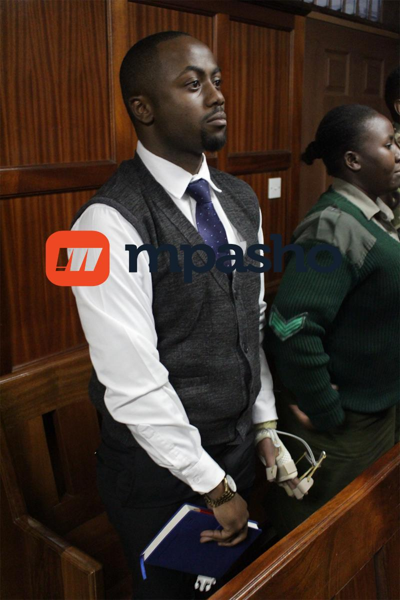 Jowie court broken arm5 - Photos and digital records to be used in Jacque Maribe's murder case