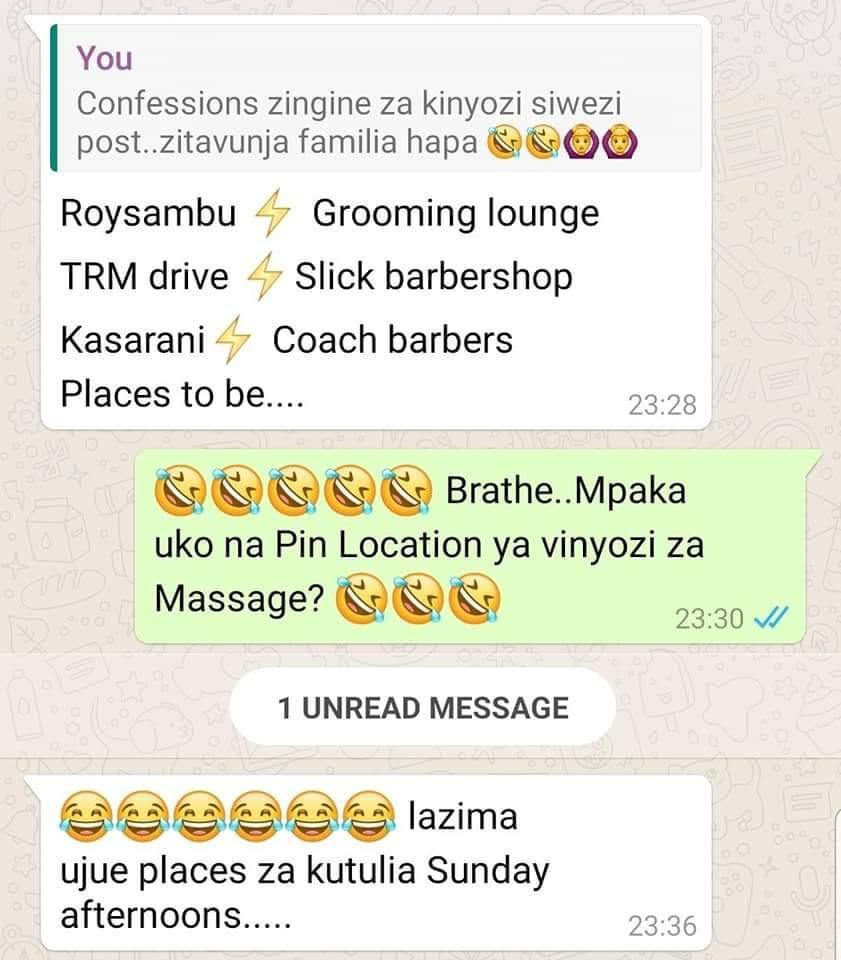 Kinyozi stories 4 - Kenyan men reveal crazy things that happen in barbershops