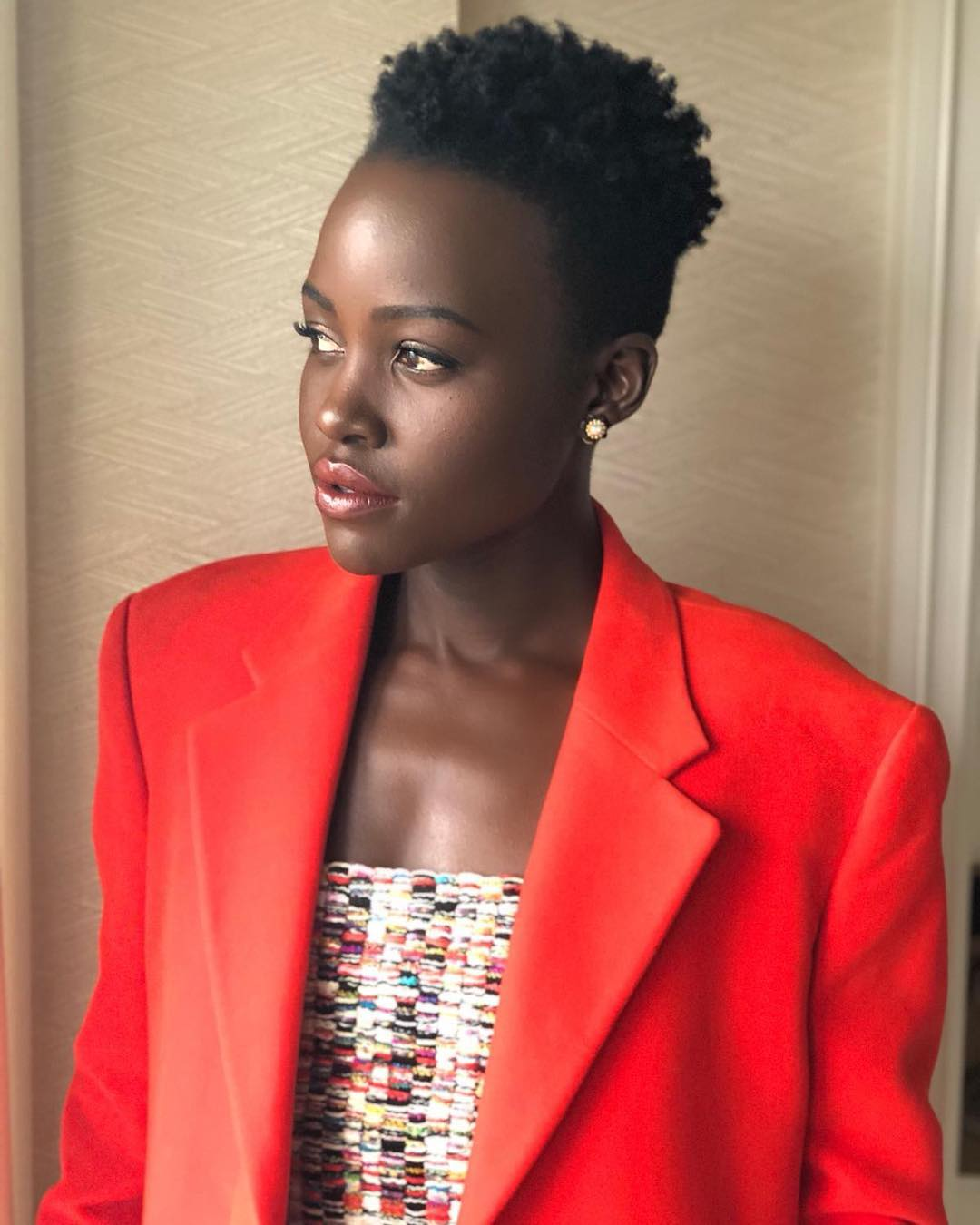 Lupita 2 - Wanafanana? Lupita and her 'twin' Adut Akech finally pose together