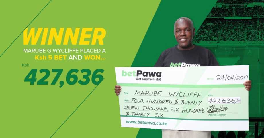 Marube Wycliffe winner on the betPawa jackpot