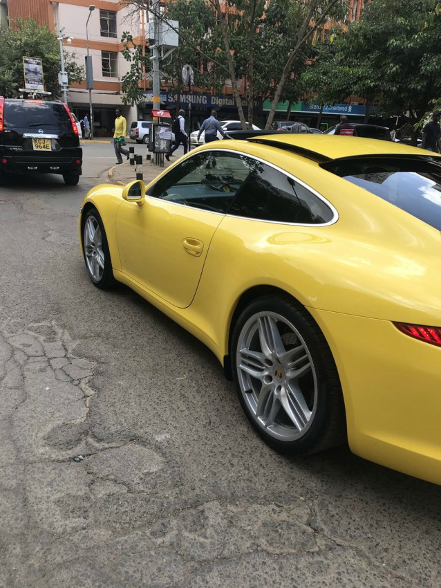 Porsche 911 2015 - Whose swanky ride is this? Pricey Porsche 911 spotted on Koinange