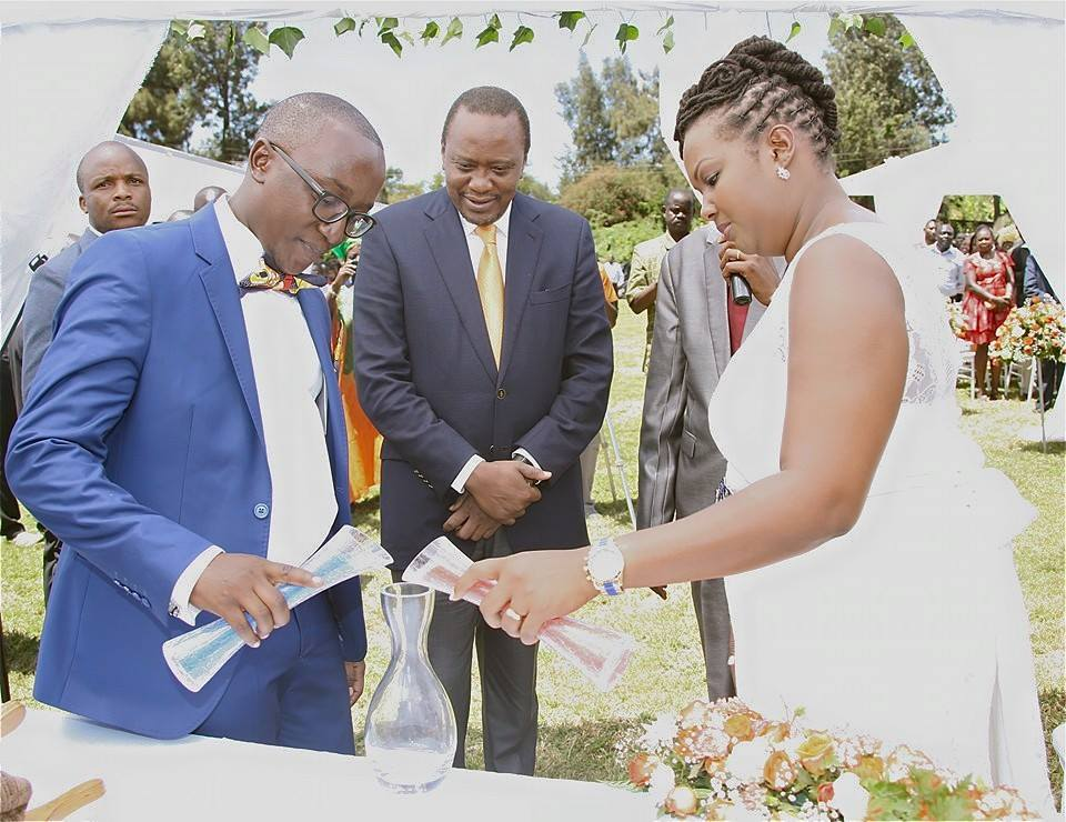 President Uhuru Kenyatta of Kenya Attends Wedding Of Chemeli Chumo and Kevin Oduor People He Met Through Facebook 2 - Kenyans whose weddings President Uhuru Kenyatta attended