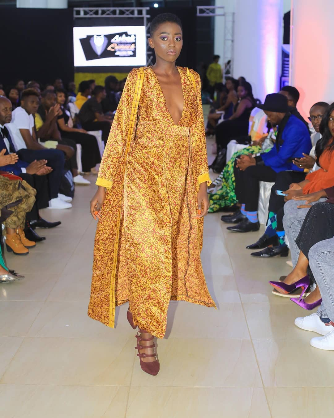 Rue Baby on the catwalk with Blessed Njugush watching 1 - Blessed Njugush caught 'thirsting' after Akothee's daughter Rue Baby