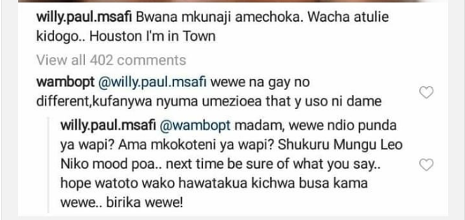 Screen Shot 2019 05 27 at 6.19.34 AM - Willy Paul's savage response to fan who calls him gay