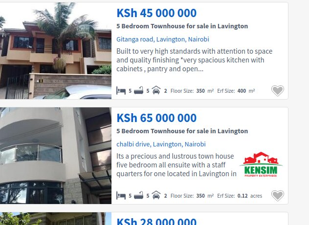 Mansions for sale in Nairobi