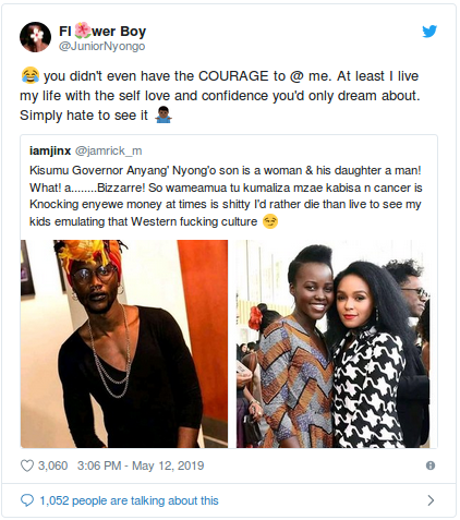 Screenshot from 2019 05 15 082933 - 'I'm a Luopean!' Lupita's brother Peter Nyong'o tells fan who asked if he was gay