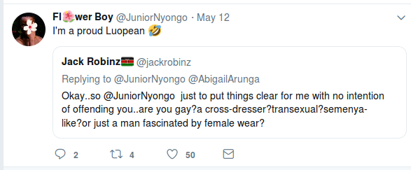 Screenshot from 2019 05 15 083338 - 'I'm a Luopean!' Lupita's brother Peter Nyong'o tells fan who asked if he was gay