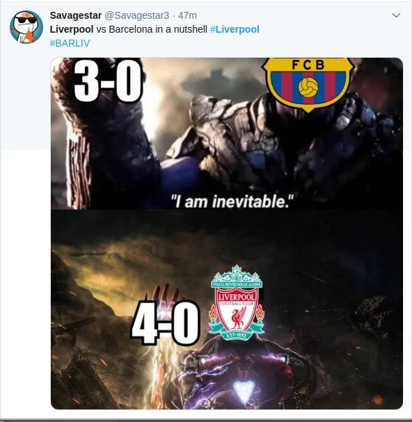 Screenshotfrom2019 05 08073453 - Kama Lazarus! Reactions to Liverpool win over Barcelona