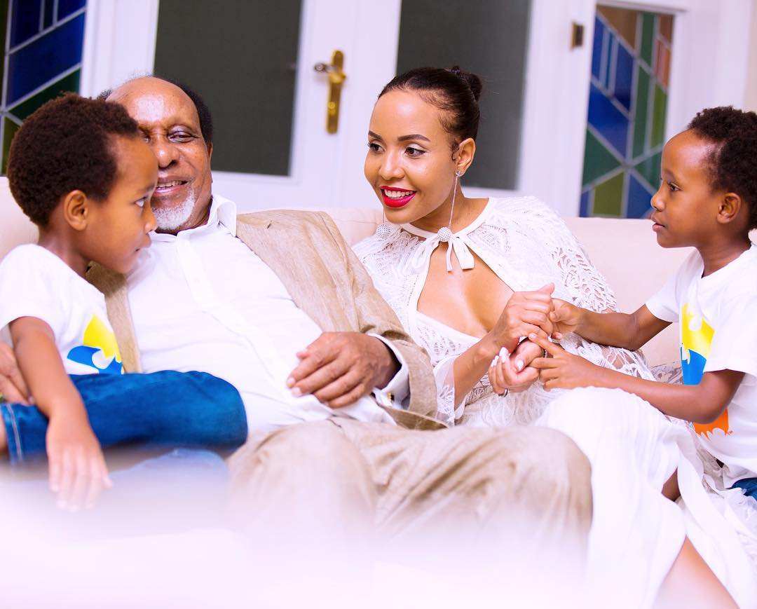 The Mengi family - His wife was 36 years younger! Inside Reginald Mengi's marriage