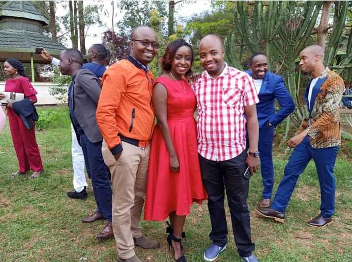 WhatsApp Image 2019 05 27 at 6.23.57 AM e1558927798728 - Jacque Maribe stuns in red after resurfacing at Citizen TV's Sam Gituku's wedding