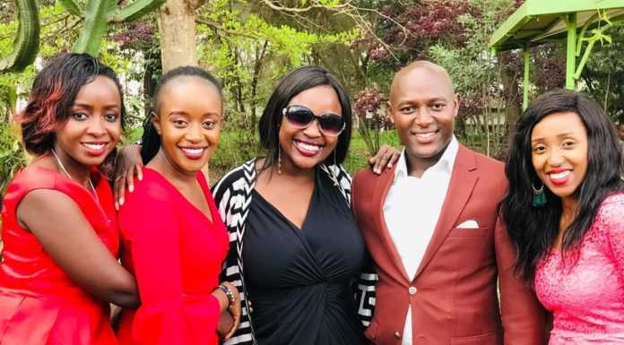 sam gituku wedding  696x385 - Photos: Citizen TV's Sam Gituku weds colleague Ivy Wangechi