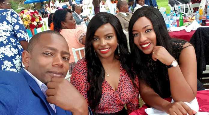 sam gituku wedding 2 696x385 - Photos: Citizen TV's Sam Gituku weds colleague Ivy Wangechi
