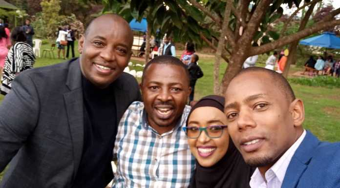 sam gituku wedding 5 696x385 - Photos: Citizen TV's Sam Gituku weds colleague Ivy Wangechi