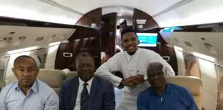 Inside Samuel Eto's private jet