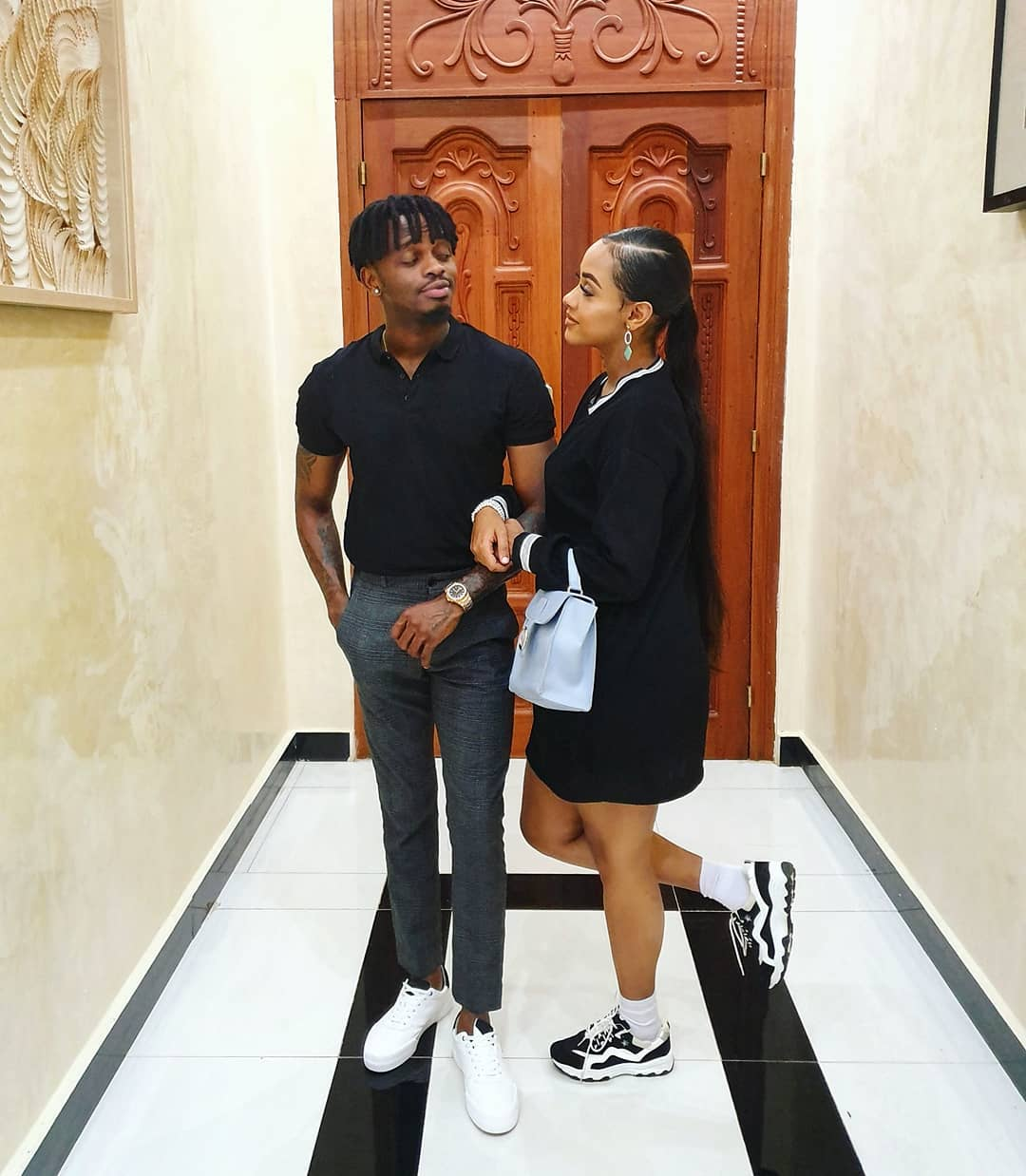 Diamond Platnumz with Tanasha