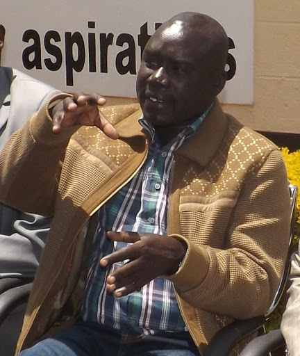 Ex-MCA Benson Kiptire during a past meeting in Iten town Elgeyo Marakwet county  image: MATHEWS NDANYI