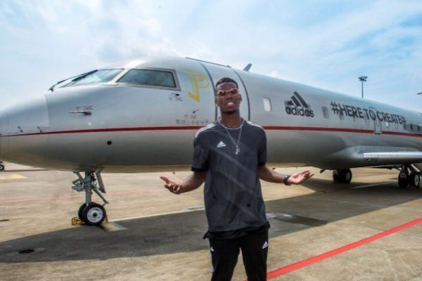 Paul Pogba jet 600x400 - The good life: Meet African footballers who own private jets