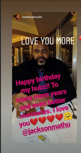Screenshot from 2019 06 26 122604 - 'I love you,' Kambua's message to hubby on his birthday