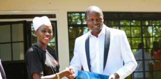 Akothee with Migori governor
