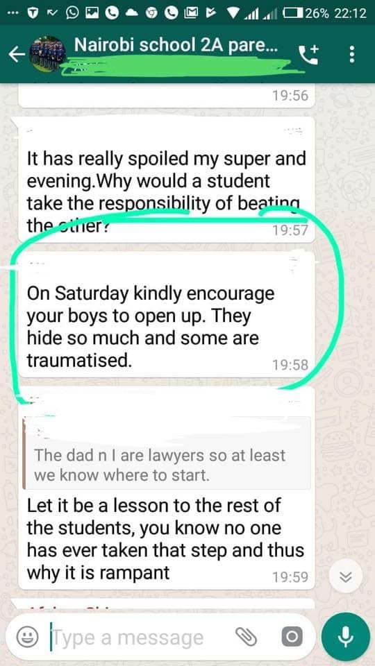 65998634 10219709107541766 1153752722512543744 n - Leaked SMSes of Nairobi School parents after student is assault by prefect