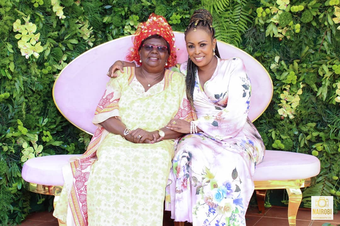 Caroline Mutoko and her mum - Urembo galore : Meet the beautiful moms to your favorite celebs