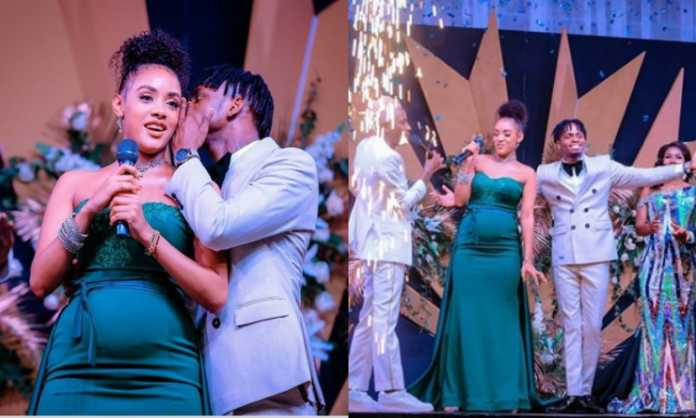 Diamond Platnumz with pregnant Tanasha