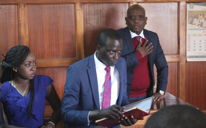 IMG 20190704 WA0021 - Undying love! Jaque Maribe stands by Dennis Itumbi in court