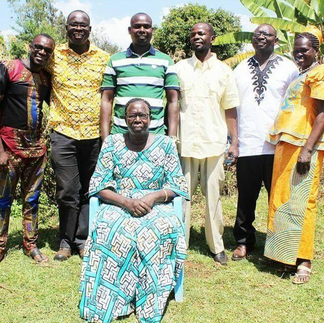 Ken Okoth's family
