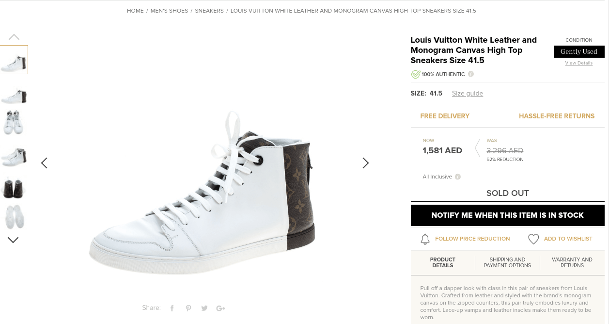 Louis Vuitton White Leather and Monogram Canvas High Top Sneakers - Check out Victor Wanyama's Ksh 92K Louis Vuitton sneakers