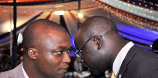 Ken Okoth with Ronnie Osumba