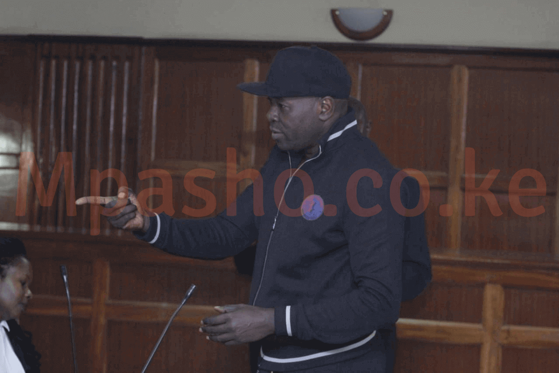 Cliff Ombeta dressed casually in court