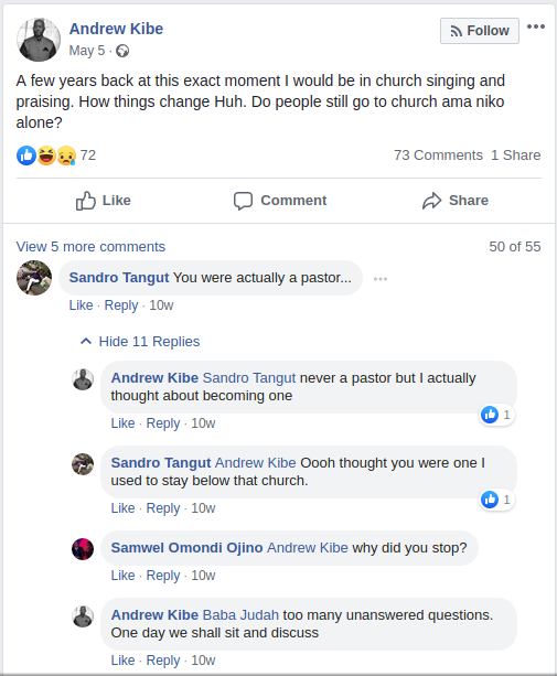 Screenshot from 2019 07 14 131635 - 'I've never been a pastor!' says controversial presenter Andrew Kibe