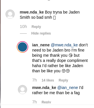Screenshot from 2019 07 16 084436 - 'I'd rather be like Jaden Smith than you,' Almasi claps back at hater