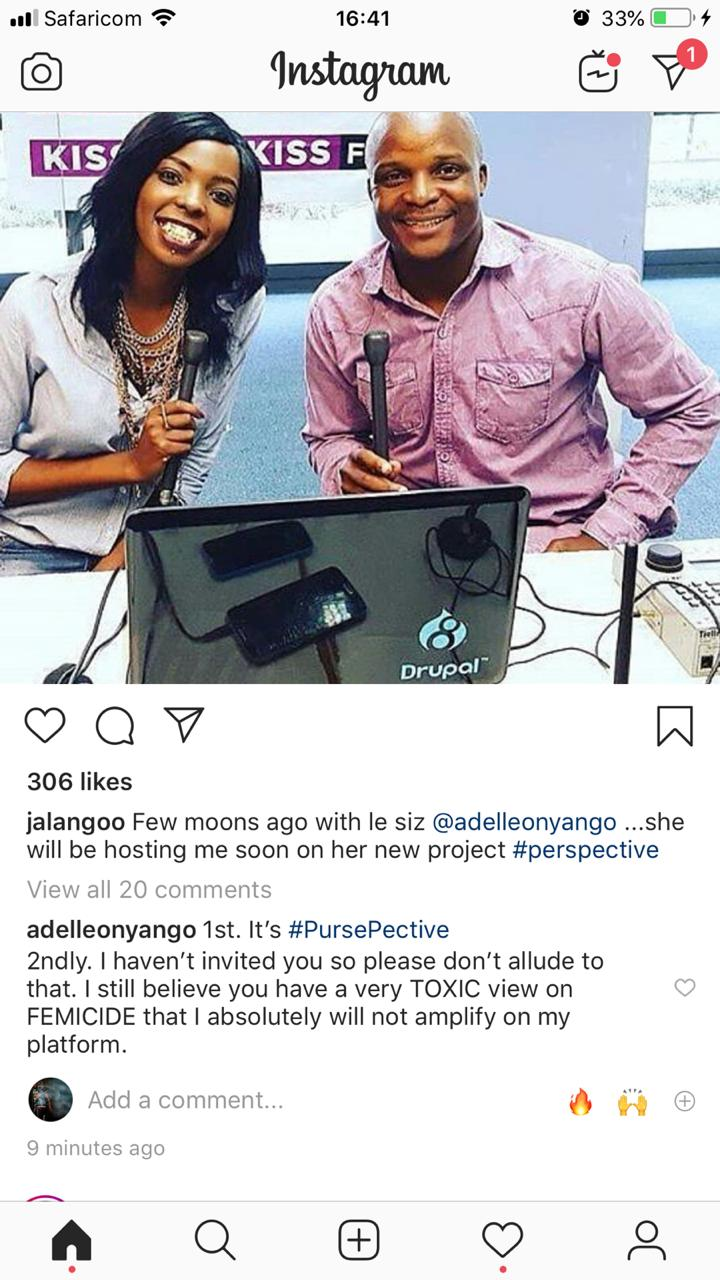 WhatsApp Image 2019 07 04 at 4.42.13 PM - 'You are very toxic!' Adelle Onyango calls out comedian (Deleted post)